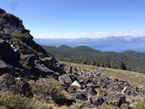 looking SW over Lake Tahoe